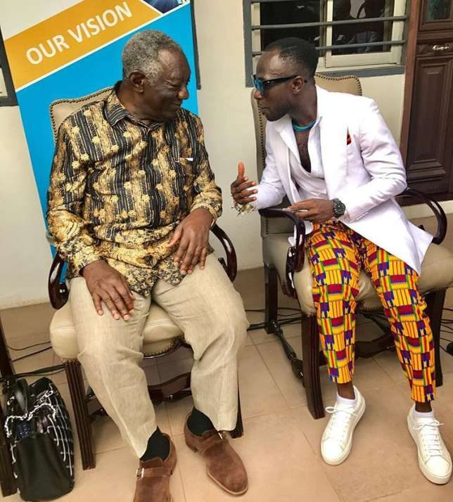 Former President Kufuor Tasks Okyeame Kwame To Raise Funds