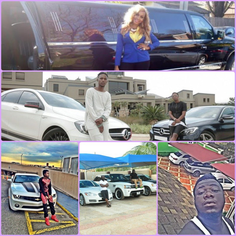 Photos of Ghanaian fraud boys and the popular cars they love to drive.
