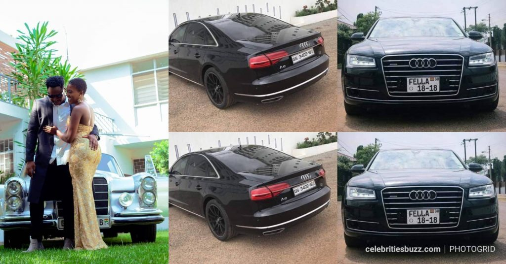 Medikal gave Fella Makafui a customized 'Audi A8' Home Used Car?