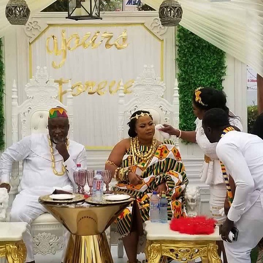 Gifty Osei with Husband, Hopeson Adoye