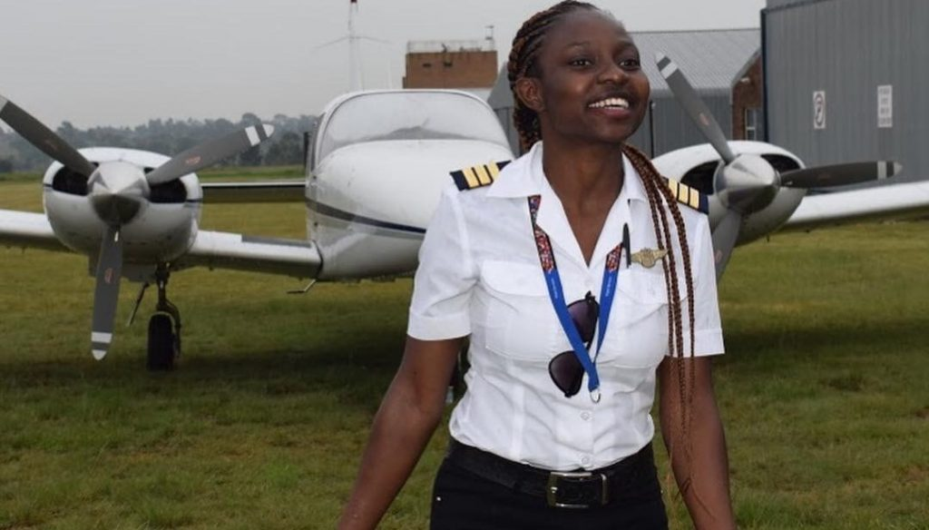 Meet 21-yr old Audrey Maame Esi Swatson, Ghana's youngest female pilot