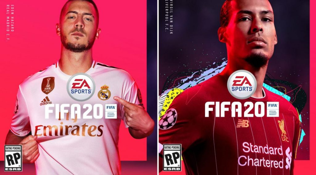Madrid's Eden Hazard and Liverpool's Virgil van Dijk have been confirmed by EA Sports as faces of the cover of the next version, FIFA 20