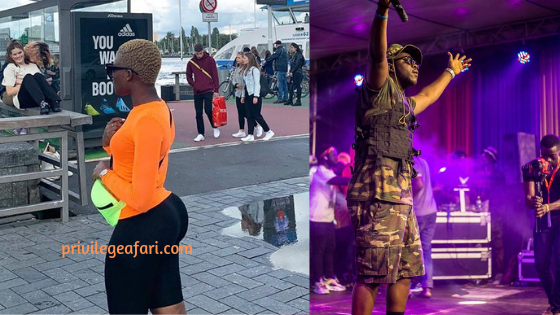Controversial lovers, Medikal and Fella Makafui spotted in Amsterdam thrilling fans in a rather crazy way. Ghana's best rapper mashed up like