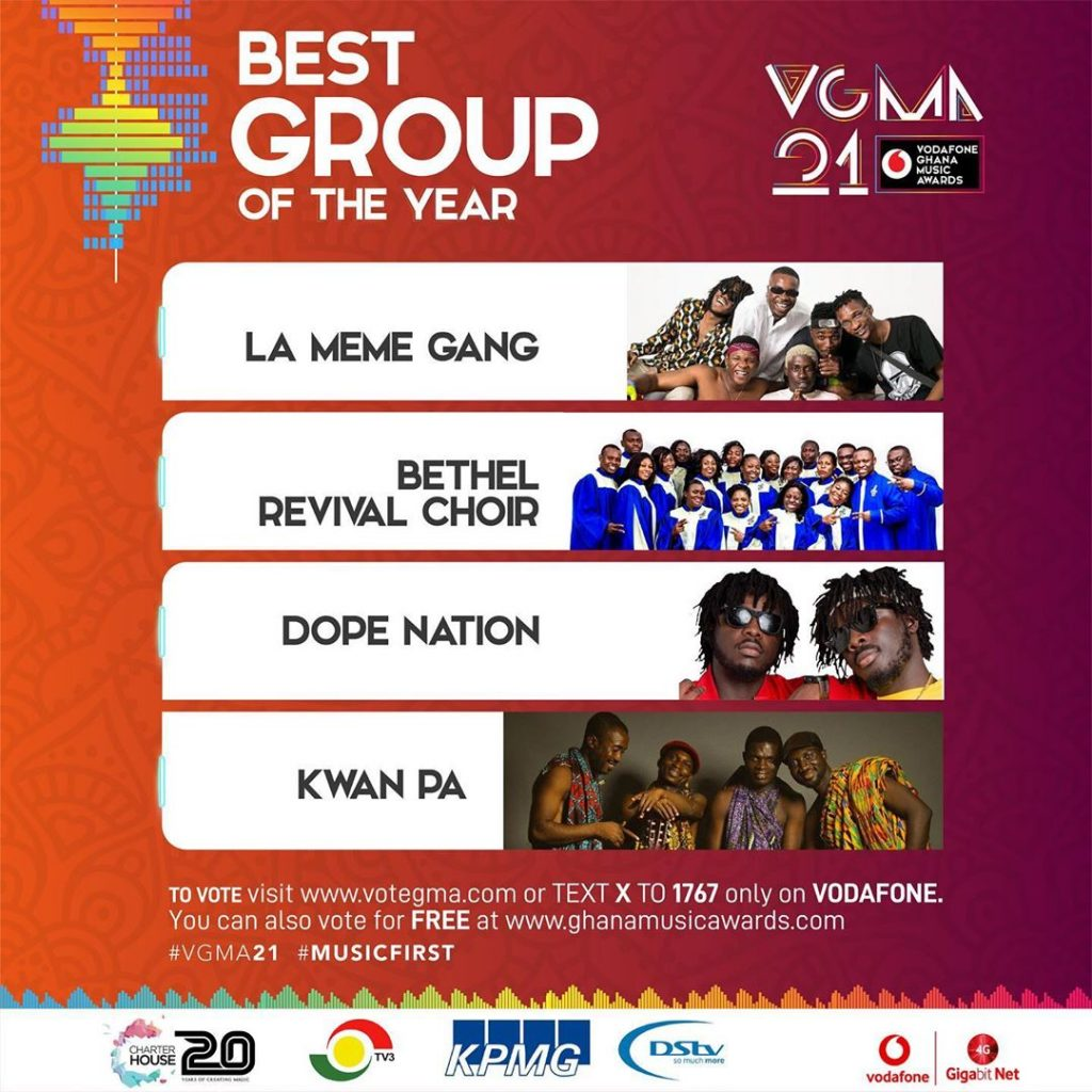 Best Group of the Year(Dope Nation )