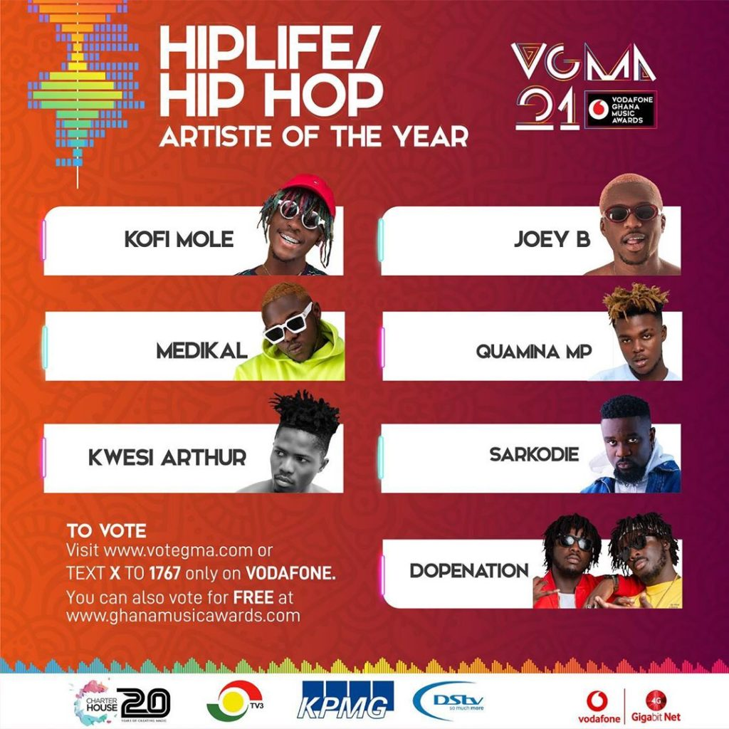 HipLife-HipHop Artiste of the Year(Sarkodie )
