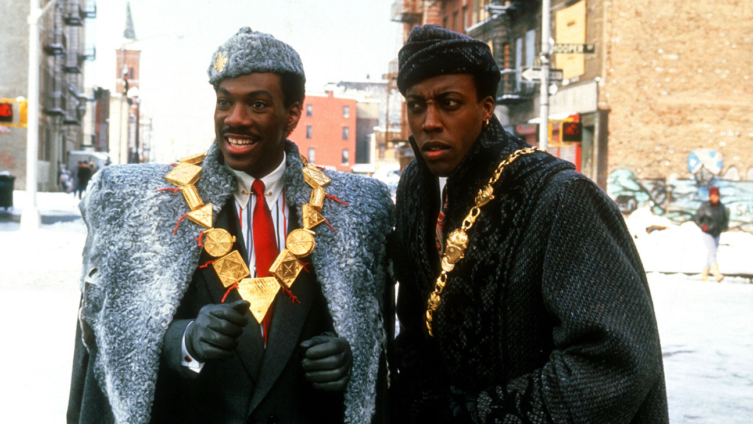 Coming to America (1988) Directed by John Landis Shown from left: Eddie Murphy (as Prince Akeem), Arsenio Hall (as Semmi)