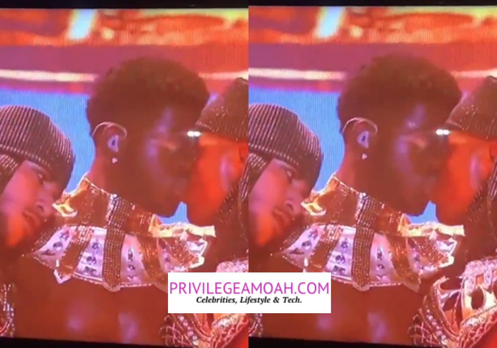 Lil Nas X Kisses Male Dancer On Stage While Performing At The 2021 BET Awards