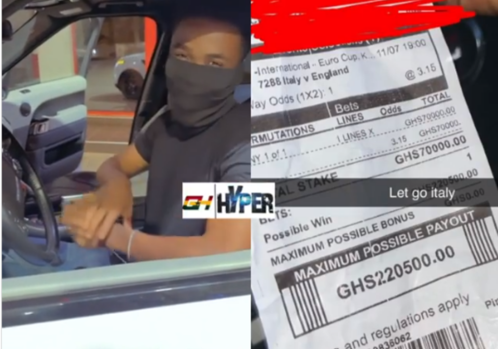 2021 Europa Cup Final: It Ended In Tears For Ghanaian Young Man Who Placed A GH¢70,000 Straight Win Bet On Italy(Video)